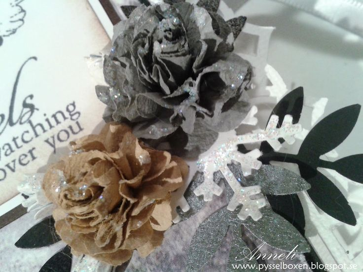 Coffee filter roses grey and beige
