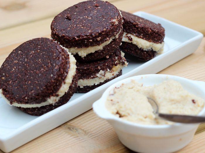 'Gezonde' rauwe oreo koekjes via Rens Kroes