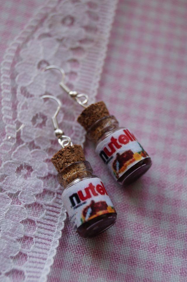 Kolczyki Nutella - Osa Handmade - Srebrna Agrafka