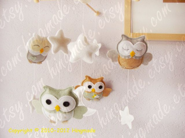 Baby Mobile Owl Mobile Nursery Mobile