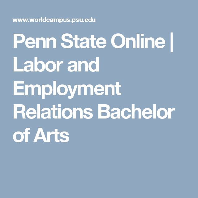 Penn State Online | Labor and Employment Relations Bachelor of Arts