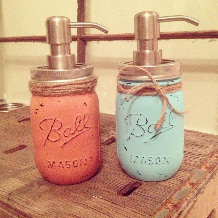 spray painted mason jars   Spray paint mason jars and turn them into soap dispensers! - sublime ...