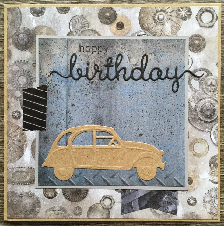 card car classic card Marianne design die - LindaCrea: Men & Cars #2