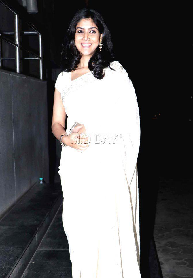 Sakshi Tanwar at #Dangal screening. #Bollywood #Fashion #Style #Beauty #Hot #Saree