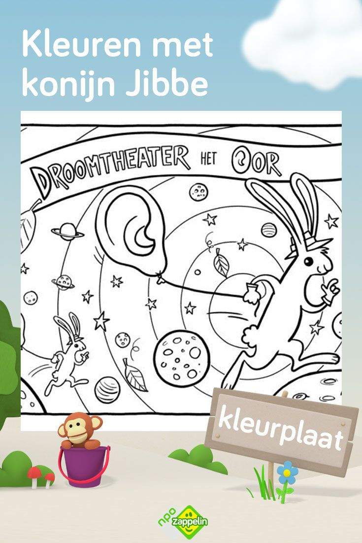 Kleurplaat Konijn Jibbe Van Droomtheater Het Oor Kleurplaten Voor Kinderen Kleurplaten Voor Kinderen