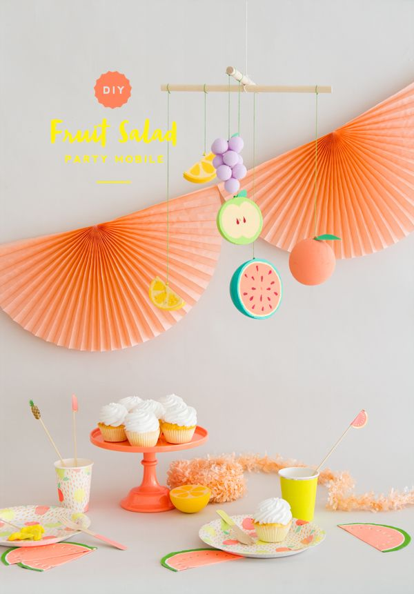 DIY Fruit Salad Party Mobile (Oh Happy Day!)
