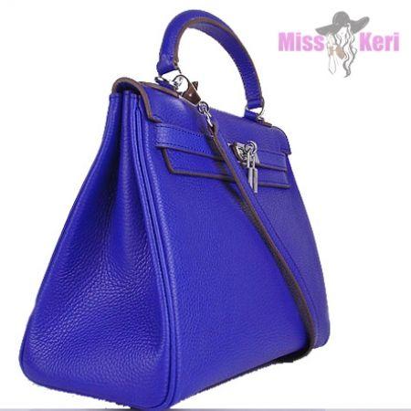 Сумка Hermes Kelly синего цвета купить, цена, интернет-магазин, отзывы