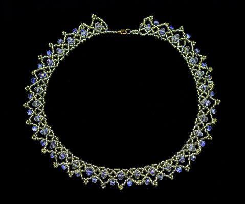 Ожерелье хрустальное