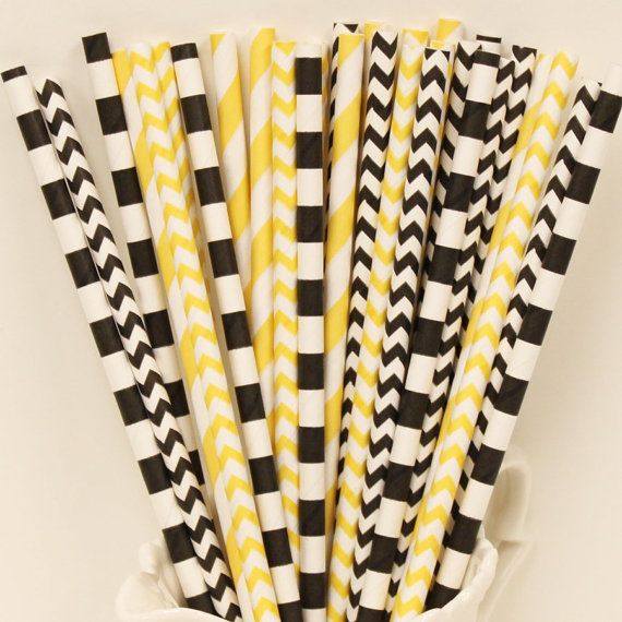 Paper Straws PITTSBURGH STEELERS Football Party by ThePartyFairy, $5.00