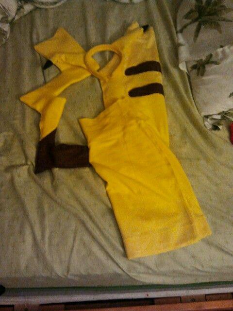 Pikachu Halloween costume, diy, pokemon