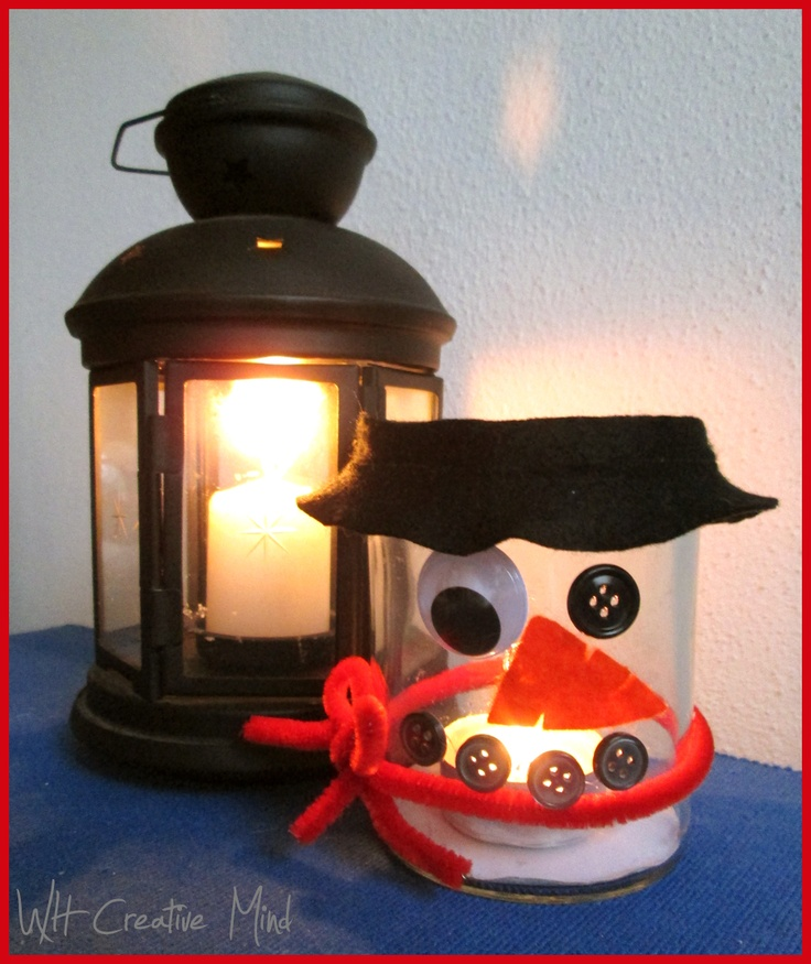 What happens in a creative mind: Decorazioni di Natale: il pupazzo di neve portacandela o porta caramelle