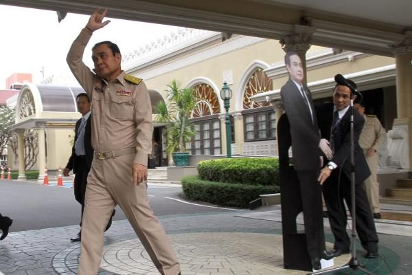 Thailand Prime Minister General Prayut Chan-o-cha has turned to a cardboard cutout of himself -- to avoid answering questions from the…