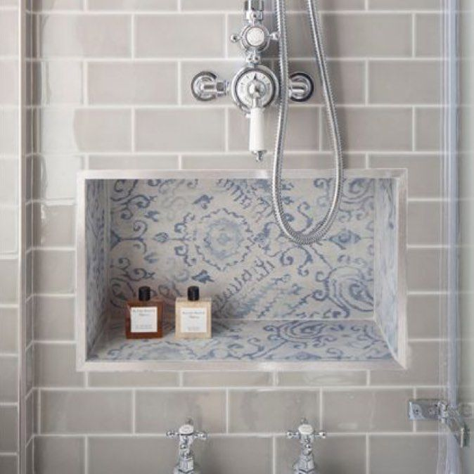 """52 Likes, 4 Comments - Fawn (@fawninteriorsstudio) on Instagram: """"Love this inset tiling idea for #bathroom #storage. #countryluxeliving #inspiration #interior…"""""""