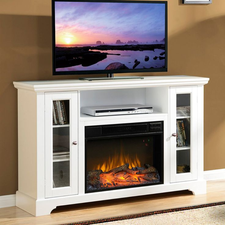 Flamelux Queenston 51 in. Electric Media Fireplace - TV Stands at Hayneedle