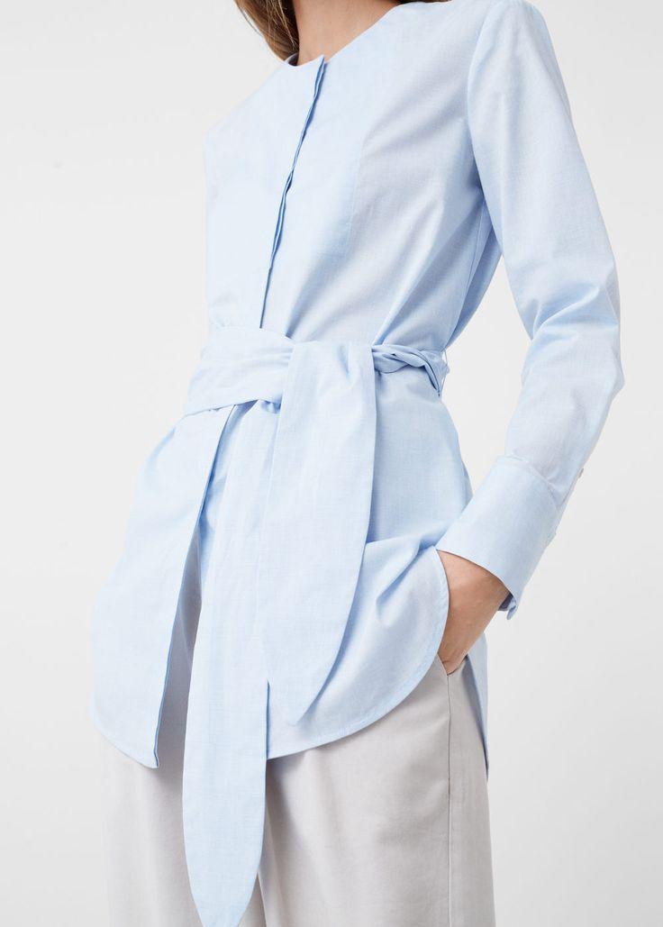 Skjorte med sløyfe - Skjorter for Damer | MANGO Norge