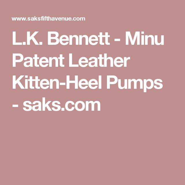 Bridal Shoes Saks: Minu Patent Leather Kitten-Heel Pumps