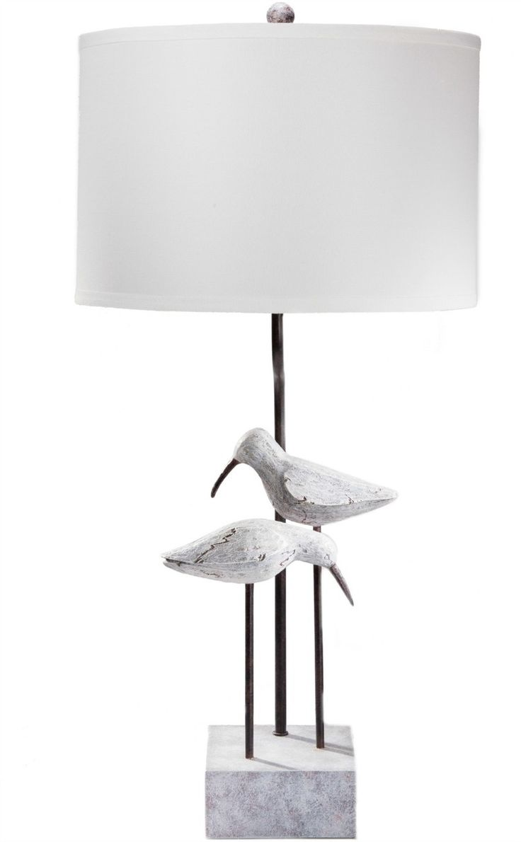 Cottage lighthouse lamp 3 colors - Two Seagulls Beach Cottage Lamp