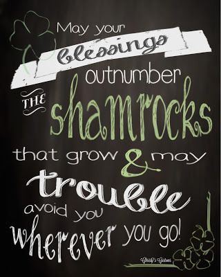St Patricks Day Chalkboard