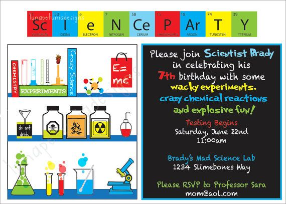 19 best Mad Science Party Ideas images on Pinterest Mad science