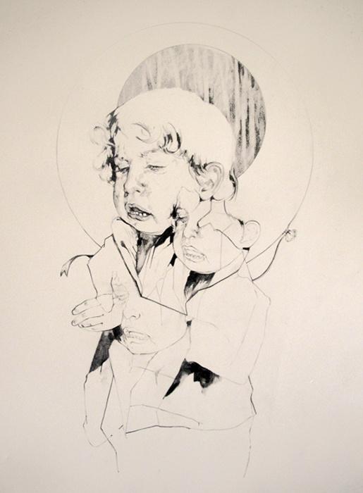 Le Syndrome de Peter Pan  2013  56x76  Pencil on paper