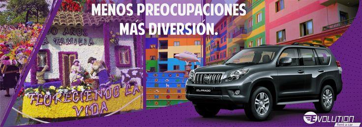 Agencia de Alquiler y renta de carros y Camionetas en Medellín evolutionrentacar.com