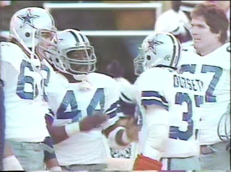 Center JOHN FITZGERALD (62), running backs ROBERT NEWHOUSE (44) and TONY DORSETT (33) and tackle PAT DONOVAN (33)--NFC Divisional Playoff-January 4, 1981