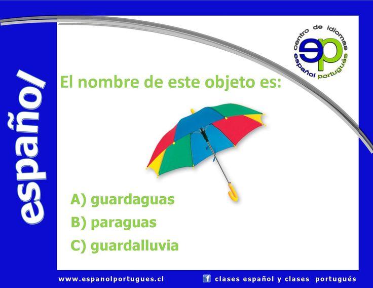 Vocabulario - Respuesta correcta: B) paraguas