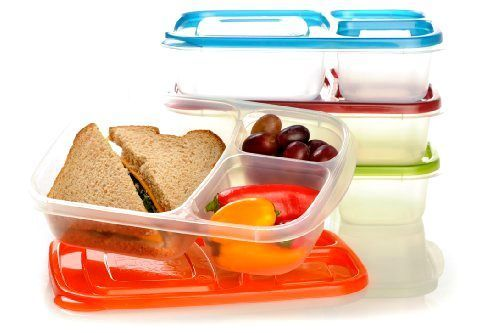Easylunchboxes Containers 3 Compartment Lunch Box Bento,Food Storage Xmas Gift #EasyLunchboxes