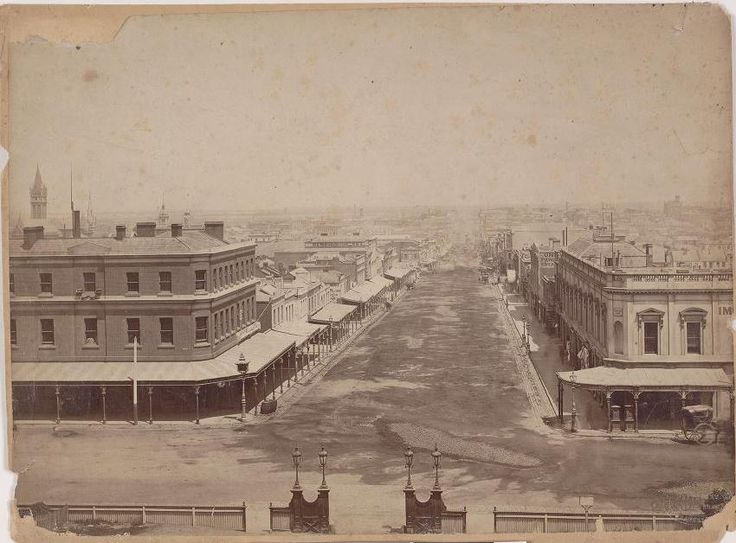 Bourke Street looking west from Spring Street, 1861. Image by Charles Nettleton. Source: Pictures Collection, State Library of Victoria. H4994