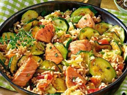 Leichtes Alltagsgericht: Lachspfanne mit Zucchini – healthy forces – Abnehmen Tipps, Rezepte & Ernährungsplan