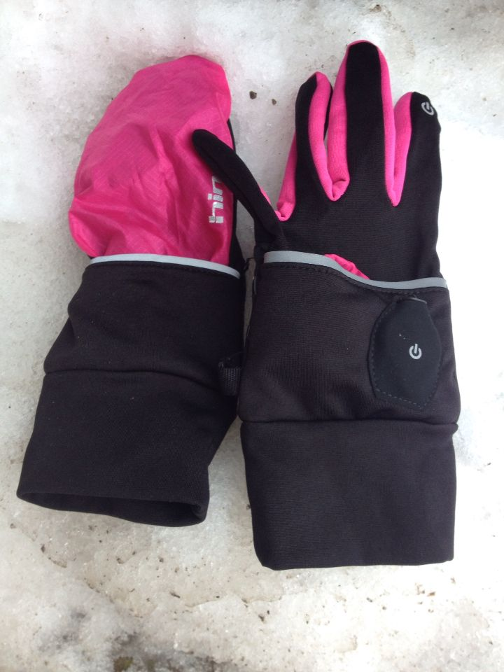 Hind Women Convertible Cold Weather Running Gloves Mittens