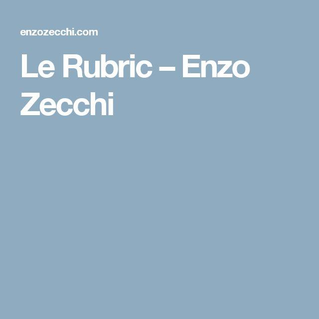 Le Rubric – Enzo Zecchi