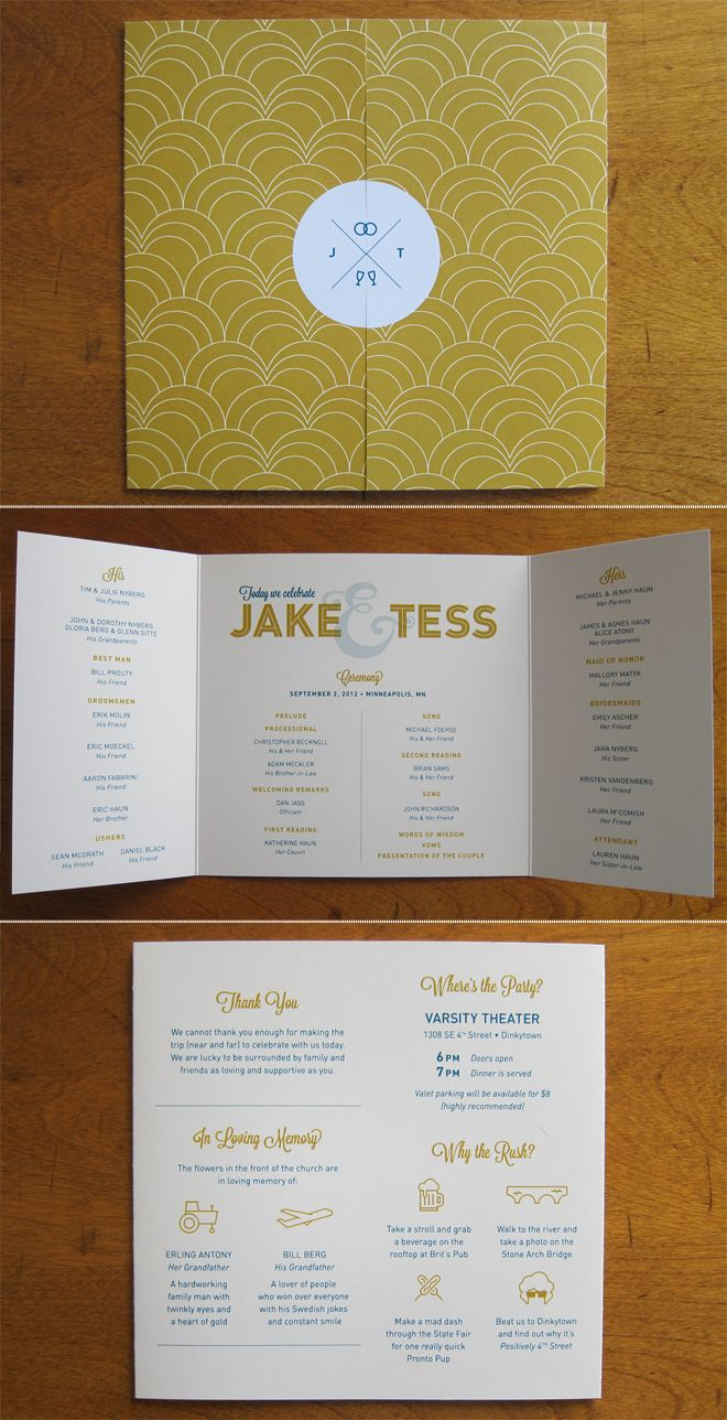 jordan a. smith | art director | designer - custom wedding invites/programs..