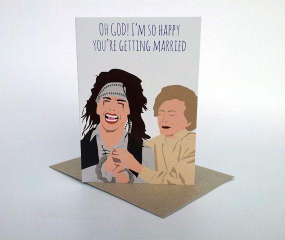 Wedding card - The Wedding Singer George. Artwork by Meet Me In Shermer: www.meetmeinshermer.com