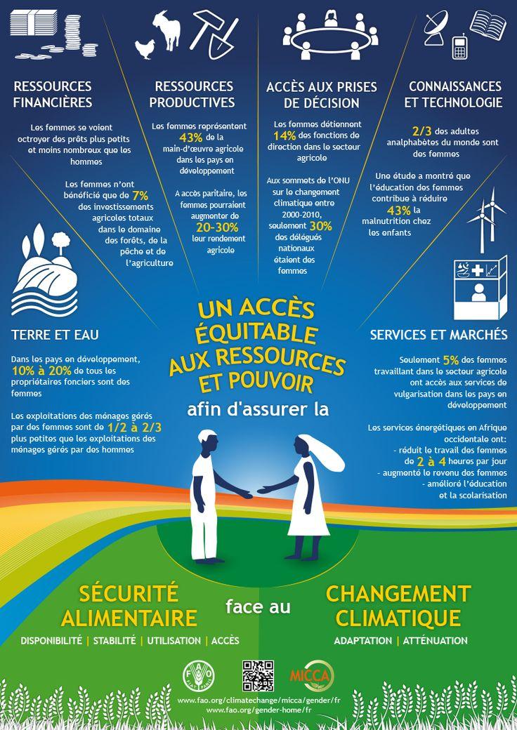 Un accès équitable des femmes et des hommes aux ressources et aux pouvoirs afin d'assurer la sécurité alimentaire face au changement climatique