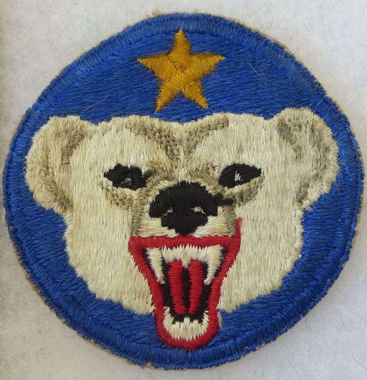 US ARMY ALASKA DEFENSE COMMAND POLAR BEAR PATCH