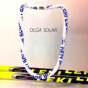 жгут из бисера Ski club Жгут делался для любителя лыжного спорта:)
