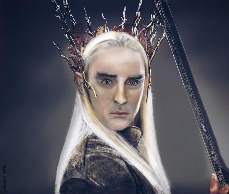 Thranduil of the Hobbit trilogie. Digital drawing by Assie's Art.
