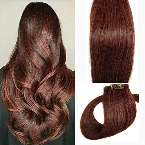 Clip in Hair Extensions Human Hair Extensions Clip on for Fine Hair Full Head 7 pieces