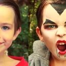How to do easy Dracula or Vampire makeup easy to follow makeup tutorial for Halloween for kids, children. Makeup you will need: White face paint, black face paint, black eyeliner, ...