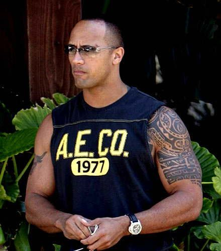 Candid Pic of The Rock