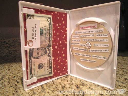 Use a dvd case as a creative way to give a movie related gift for the holidays