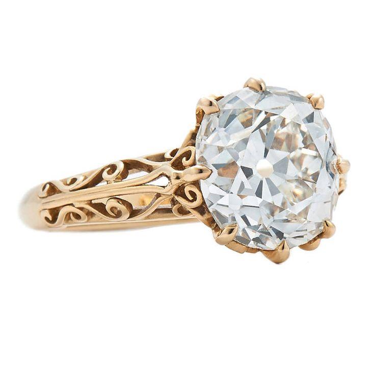 fred leighton 461 carat jvs1 old mine diamond filigree engagement ring