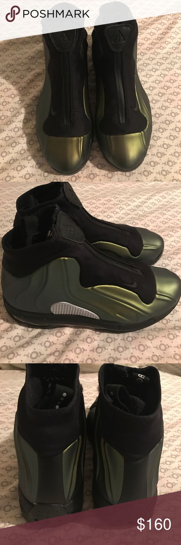 Nike I-95 Max ACG Foamposite Boots Men's Excellent condition Men's size 9 Nike ACG Foamposite Boots. Color is Iridescent Gold and Black. Nike Shoes Boots