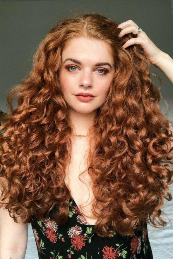 Cabelo grande ruivo cacheado | Long hair styles, Hair styles, Hair color auburn