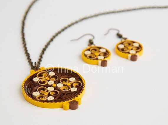 Celtic paper filigree jewelry earrings by InaQuillingOrchard, $45.00