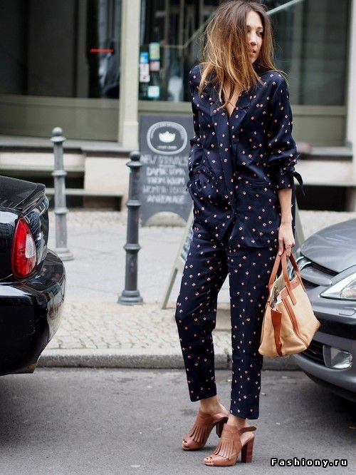 Мой уличный лук в пижаме