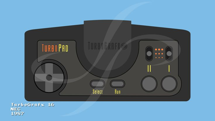 """This illustration represents the NEC TurboGrafx 16 Controller controller from 1987.  It was used in the video """"The Evolution of Videogame Controllers"""" https://www.youtube.com/watch?v=L7emRuYqkKg"""