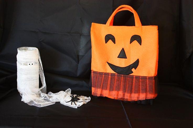 Halloween pumpkin bag  ---  Bolso Calabaza Halloween