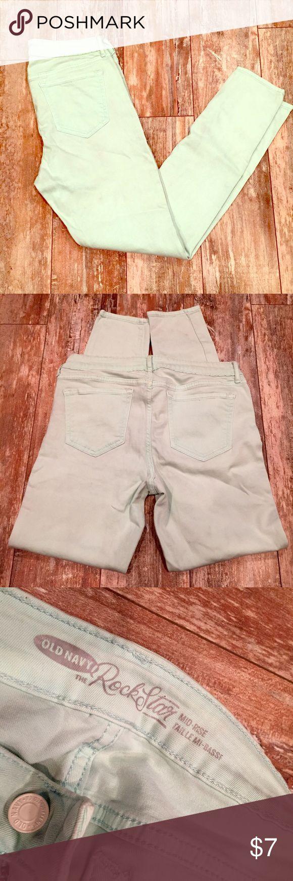 ‼Old Navy 🌀MINT GREEN🌀 skinny leg 🌀Old Navy MINT GREEN Skinny leg mid-rise. Sz. 10🌀 Old Navy Jeans Skinny